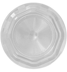 Plato Hondo Redondo Octogonal Plastico PS Blanco Ø22cm (25 Uds)