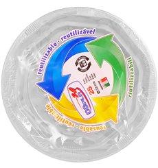 Plato Redondo Octogonal Plastico PS Blanco Ø17cm (25 Uds)