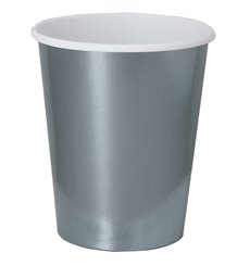 "Vaso Cartón 9 Oz/240ml Plata ""Party"" (300 Uds)"