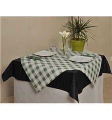 """Mantel de Papel Cortado 1,2x1,2m """"Cuadros Verdes"""" 40g (300 Uds)"""
