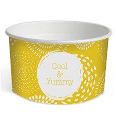 """Tarrina de Cartón para Helados 5oz/140ml """"Cool&Yummy"""" (1000 Uds)"""