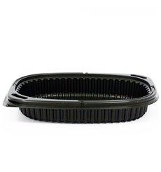 Envase Rectangular PP Negro 400ml 190x140x32mm (40 Uds)