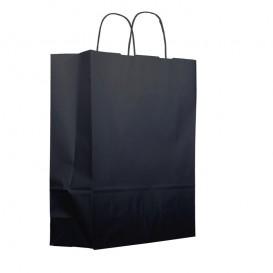 Bolsa Papel Kraft  Negra con Asas 100g 25+11x31cm (25 Uds)
