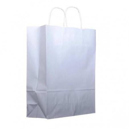 Bolsa Papel Kraft Blanca con Asas 100g 25+11x31cm (25 Uds)