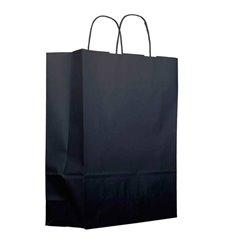 Bolsa Papel Kraft Negra con Asas 100g 22+9x23cm (200 Uds)