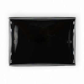 Bandeja Plastico Negra con Tapa PET 16x22cm (15 Uds)