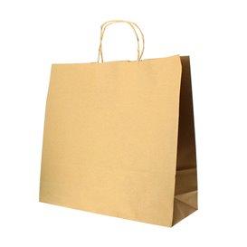 Bolsa Papel Kraft Hawanna con Asas 100g 32+20x32cm (50 Uds)