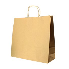 Bolsa Papel Kraft Hawanna con Asas 100g 28+16x27cm (50 Uds)