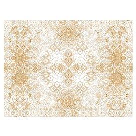 """Mantel de Papel Cortado 1x1m """"Mosaico"""" Beige 40g/m² (400 Uds)"""