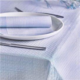 "Mantel de Papel Cortado 1x1m ""Entre Lineas"" Azul 40g/m² (400 Uds)"
