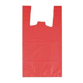 """Bolsa Plástico Camiseta 70% Reciclado """"Colors"""" Rojo 42x53cm G200 (40 Uds)"""