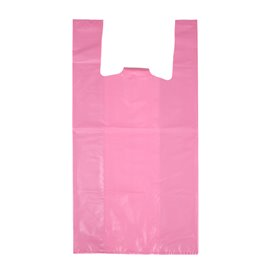 "Bolsa Plástico Camiseta 70% Reciclado ""Colors"" Rosa 42x53cm G200 (40 Uds)"