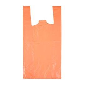 "Bolsa Plástico Camiseta 70% Reciclado ""Colors"" Naranja 42x53cm G200 (40 Uds)"