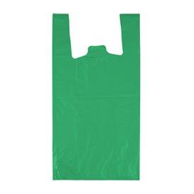 "Bolsa Plástico Camiseta 70% Reciclado ""Colors"" Verde 42x53cm G200 (50 Uds)"