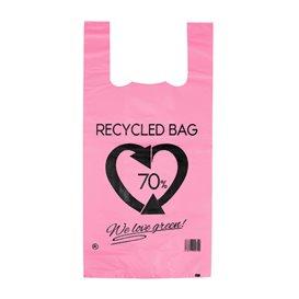 Bolsa Plástico Camiseta 70% Reciclado Rosa 42x53cm G200 (50 Uds)