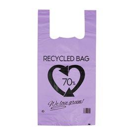Bolsa Plástico Camiseta 70% Reciclado Lila 42x53cm G200 (50 Uds)