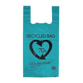 Bolsa Plástico Camiseta 70% Reciclado Azul 42x53cm G200 (50 Uds)