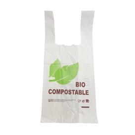 Bolsa Plastico Camiseta 100% Biodegradable 48x60cm G100 (100 Uds)