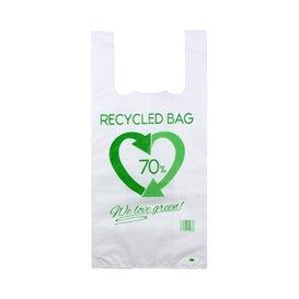 Bolsa Plástico Camiseta 70% Reciclado 42x53cm G200 (100 Uds)