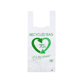 Bolsa Plástico Camiseta 70% Reciclado 35x50cm G200 (100 Uds)