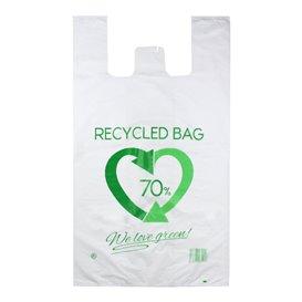 Bolsa Plástico Camiseta 70% Reciclado 80x90cm G200 (50 Uds)