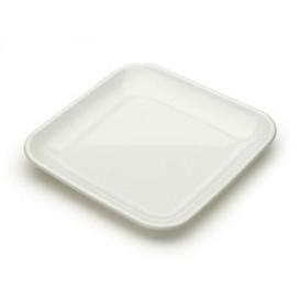 Plato Degustacion Plastico Blanco 6x6x1 cm (50 Uds)