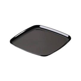 Bandeja Reutilizable PS Cuadrada Dura Negro 40x40cm (5 Uds)