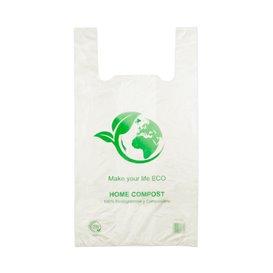 Bolsa Plastico Camiseta 100% Biodegradable 50x55cm (100 Uds)