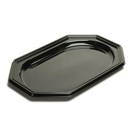 Bandeja Reutilizable PET Octogonal Negra 27x19cm (10 Uds)