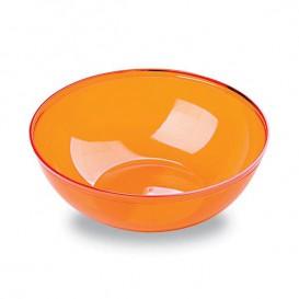 Bol de Plástico Naranja 400ml 140Ø (4 Uds)