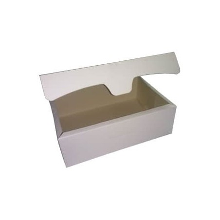 Caja para Pasteleria Carton 25,8x18,9x8cm 2Kg. Blanca (125 Uds)