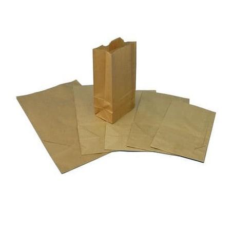 Bolsa de Papel SIN Asas KRAFT 18+12x30cm (Caja 500 Unidades)