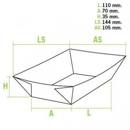 Barqueta 300ml Cartoncillo 11,0x7,0x3,5cm (50 Uds)