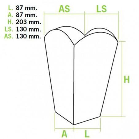 Caja Palomitas Grande 150 gr 8,7x13x20,3cm (50 Uds)