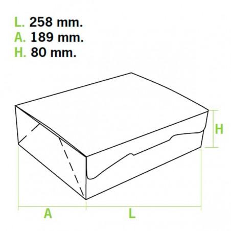 Caja Pasteleria Carton 25,8x18,9x8cm 2Kg. Blanca (5 Uds)