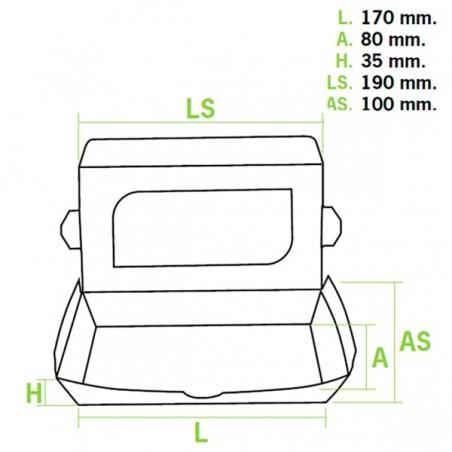 Envase de Carton Premium 19x10x3,5cm 480ml (10 Uds)