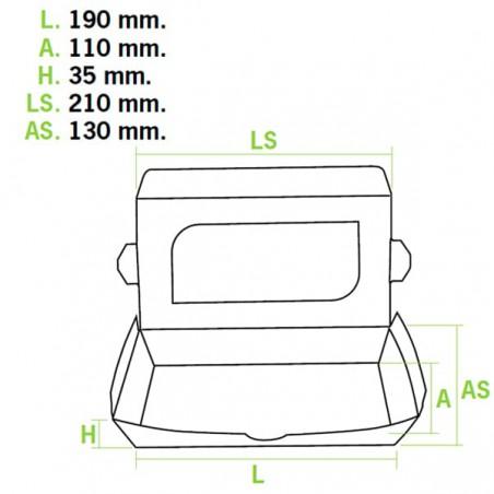 Envase de Carton Premium 21x13x3,5cm 730ml (10 Uds)