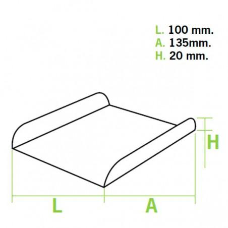 Bandeja de Carton Blanca para Gofres (25 Unidades)