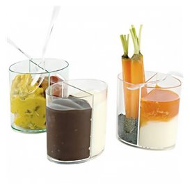Vaso de Plastico Doble Degustacion Transp. 60ml (100 Uds)