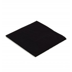 Servilleta de Papel Cocktail 20x20cm 2C Negra (100 Uds)