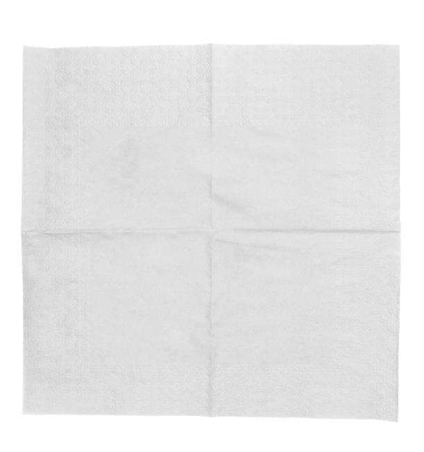 Servilleta de Papel Cocktail 20x20cm 2C Blanca (100 Uds)
