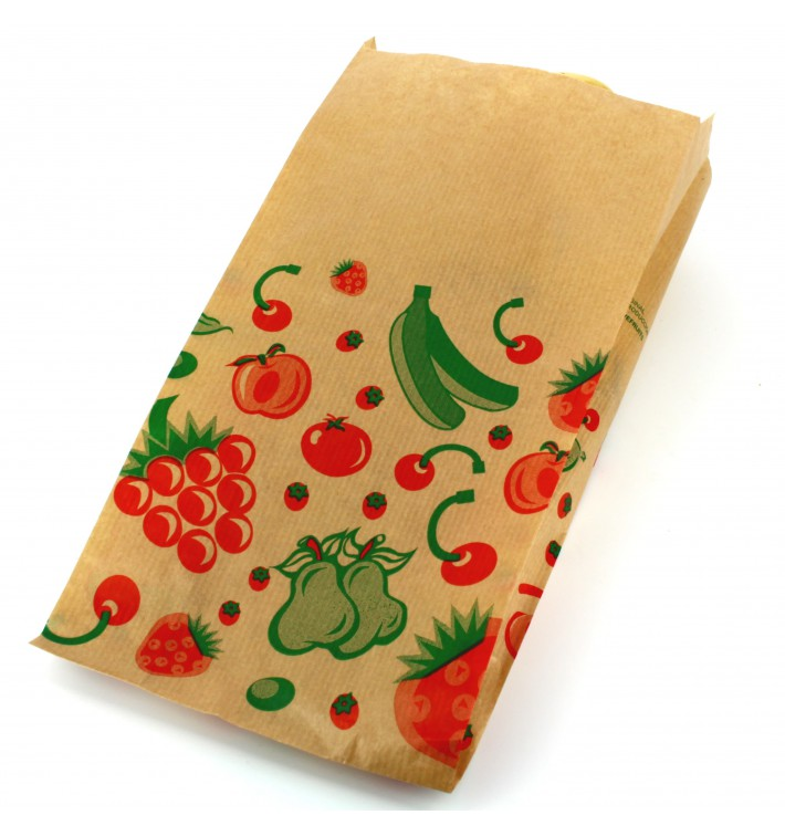 Bolsa Kraft para Fruta 14+7x28cm (100 Uds)