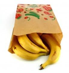 Bolsa Kraft para Fruta 18+10x28cm (100 Uds)