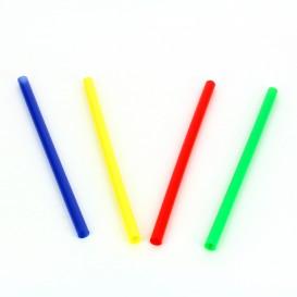 Pajita Recta de Colores para Mojito Ø6mm 13cm (500 Uds)